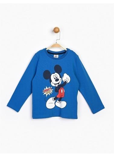 Mickey Mouse Mickey Mouse 17216 Lisanslı Uzun Kol Tişört Saks